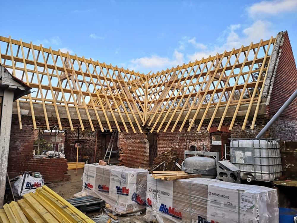 Construction charpente bois maison