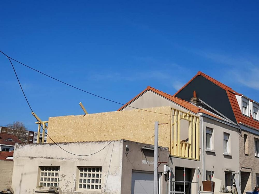 Extension bois maison